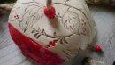 Meisenknödeldach rot-schwarz