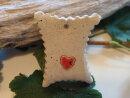 Keramik Geschenk-Anhänger  mit Herz