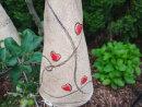 Insektenhotel und Beetstecker Herz in rot