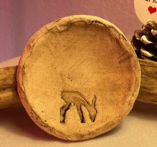 Keramik Schale-Reh