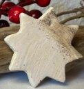 Großer Keramik  Stern mit weiß