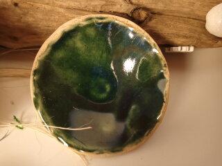 Keramik Schale in Kupfergrün