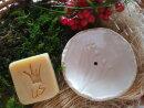 Keramik Seifenschale in weiß