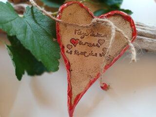 Großes Keramik-Herz-Folge deinem Herzen...