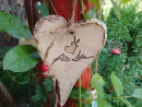 Großes Keramik-Herz -Alles Liebe in natur