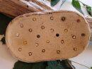 Keramik Seifenschale mit Pünktchen