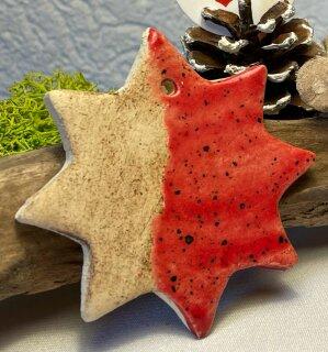 Großer Keramik  Stern rot